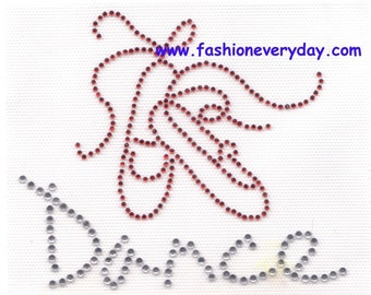 Rhinestone Iron On Transfer Hot fix Ballet / dance