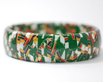 Japanese Washi Paper Eco Bangle Bracelet Flashback
