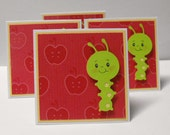 Worm Note Cards set of 4