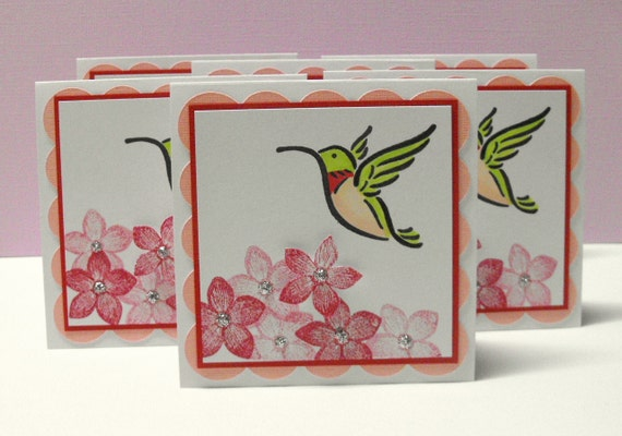 Hummingbird Mini Note Cards - set of 6