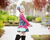 girls dress spring transitional dress knit custom handmade Main Line dress lola and clementine
