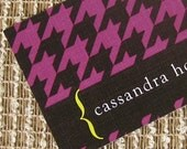 Call Me Cards - Fun Business Cards - Houndstooth Pattern