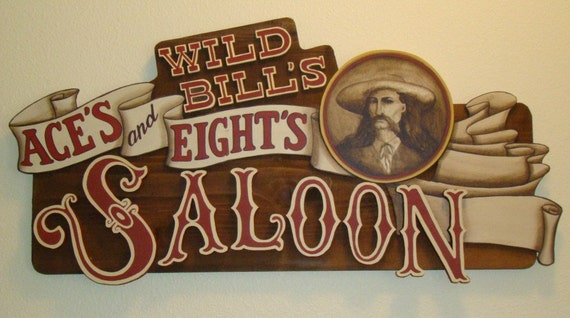 Items similar to custom personalized western saloon sign for Salon western