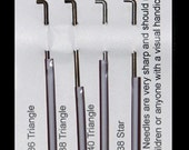 Wistyria FELTING NEEDLES- 4 assorted sizes - 36, 38, 40 triangle and 38 star