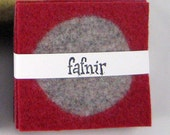 Felt Coasters - Red and Grey Set of 6