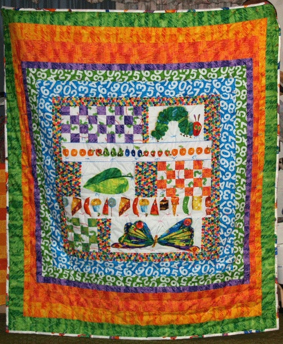 Caterpiller and butterfly quilt