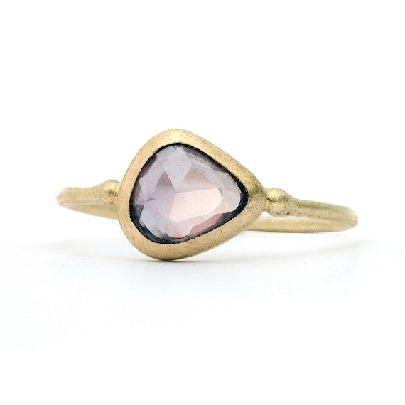 18K Gold and Rose Cut Sapphire Ring