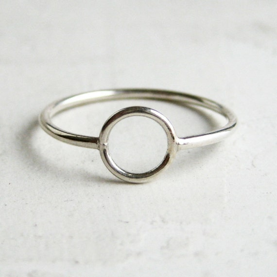 SALE | Silver Circle Ring | Delicate Silver Ring
