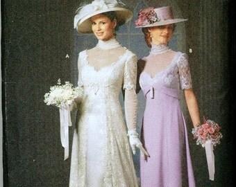 OOP HTF Simplicity 9716 Titanic Edwardian Gowns Pattern Wedding GORGEOUS Sizes 6-8-10-12