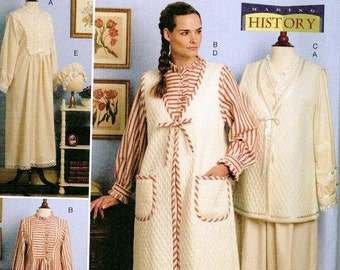 Butterick 5299 Historical Retro House coat Pattern L-XL Nightgown Robe