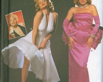 Marilyn Monroe Costume Sewing Pattern Simplicity 8393 Sz 4-6-8 Official Out of Print RARE Item
