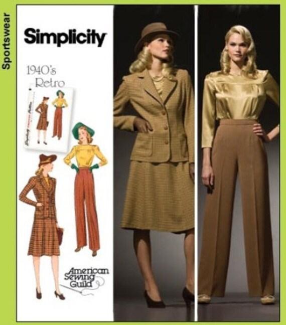 Simplicity 3688 Retro Dress Pattern 1940s Plus By