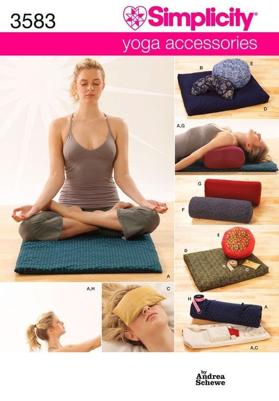 New Yoga Accessories Sew Pattern Simplicity 3583 By