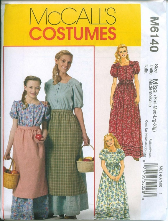 oop mccalls 6140 prairie robe et patron de couture tablier de