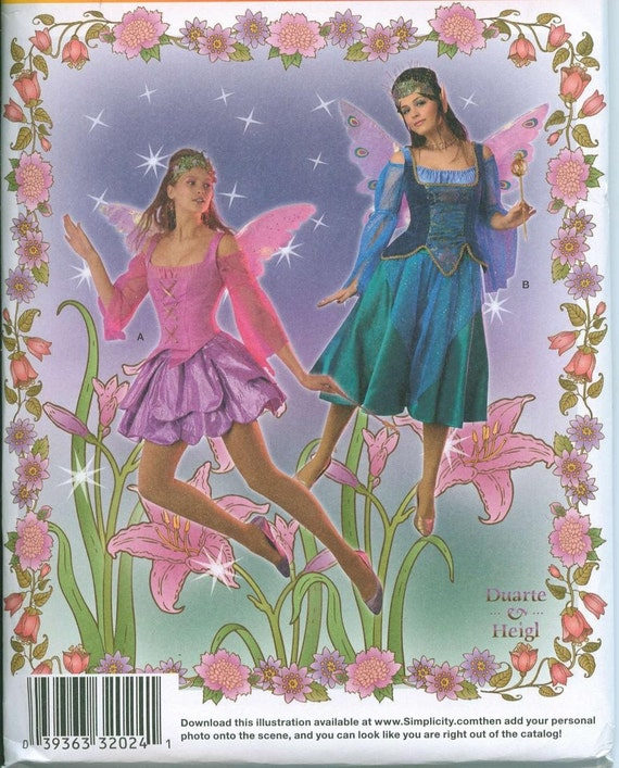 Simplicity 2857 Fairies Fairy Costume Sewing By Ohsewcharming