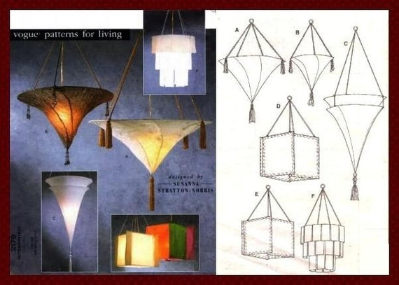OOP Vogue 2179 Hanging Lamps FORTUNY lampshade DESIGNER