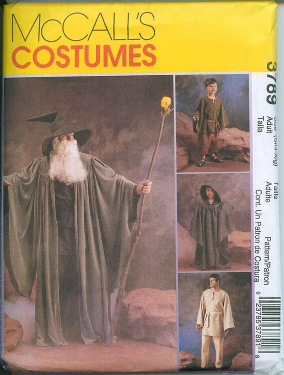 STAR WARS Cape Jedi sewing pattern Obi Wan Anakin Skywalker Costume McCalls 3789 Gandolf LOTR