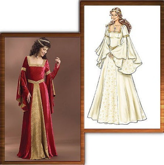 Renaissance Bridal Gown Sewing Pattern Princess Dress: Renaissance Maiden Sewing Pattern Butterick 4571 Medieval