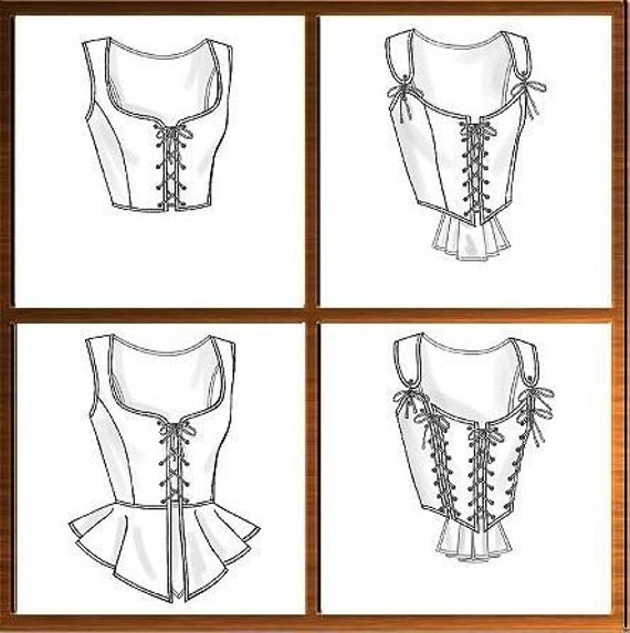 Corset Stays Bodice Sewing Pattern Renaissance Medieval Butterick 4669 Sizes 14-16-18-20