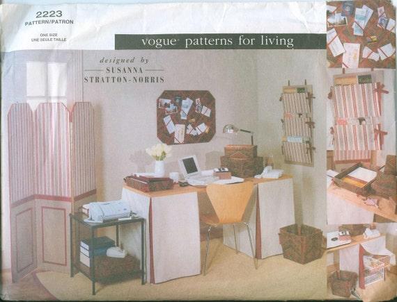 OOP Vogue 2223 Susanna Stratton-Norris DESIGNER Home Office Screen Bulletin Board
