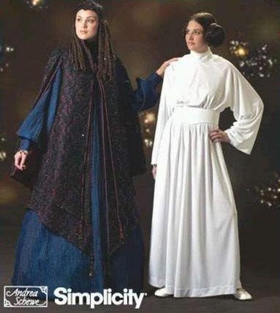 STAR WARS Gown PATTERN Queen Amidala Padme Leia Costume OOP Simplicity 4443 HTF