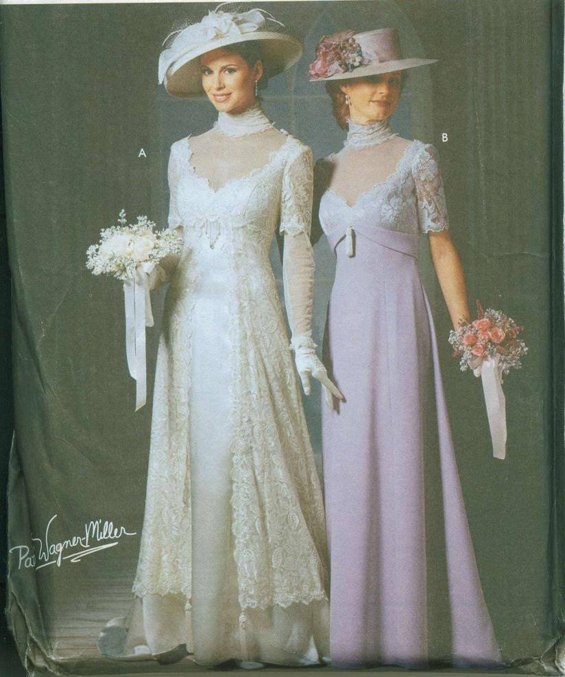 Oop htf simplicity 9716 titanic edwardian gowns pattern for Period style wedding dresses
