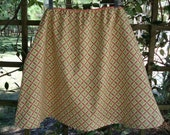 Woman Skirt Green and Peach Clearance