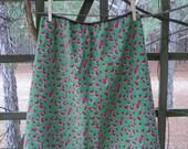 Womans Skirt- Watermelon Slices Print Waist 30-34 Short Length Version