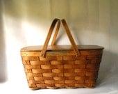 Vintage Picnic Basket Shelton Picnic Basket