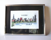 Chicago Chicago That Toddling Town! Vintage Chicago Skyline Needlepoint 1982