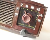 Reserved for jehnwa Vintage Radio Philco Art Deco Clock Radio Analog Old School Radio Days Man Cave Office Decor