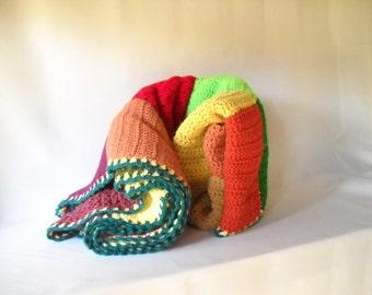 Vintage Afghan Vintage Blanket Granny Squares Crochet Blanket