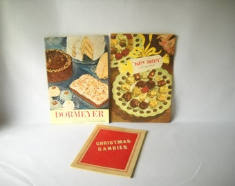 Vintage Recipe Books Dessert Recipe Books Dormeyer Sweets Candies Candy Recipe Books Set of 3