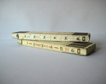 Vintage Ruler Vintage Folding Ruler Old School Tools Industrial Chic Tools Retro DIY Handyman Mr Fix It