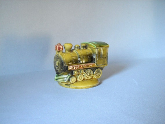 Vintage Bank Chattanooga Souvenir Bank Ceramic Train Bank Figural Railroadiana Transportation Collectible Tennessee Kitsch