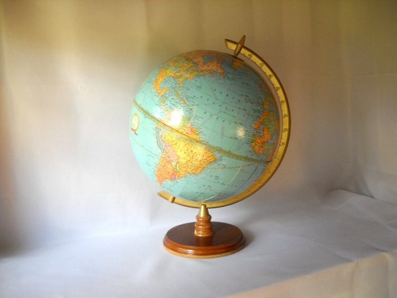 Vintage Globe 12 Inch Cram Globe World Book Globe Map Geography