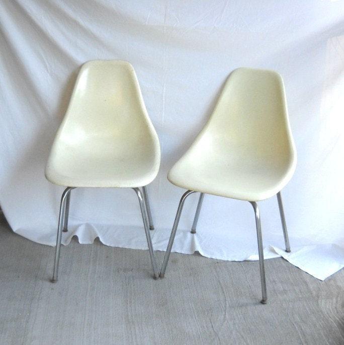 Vintage Fiberglass Chairs Eames Era Shell Chair Plastic Chair