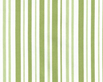 Robert Kaufman Pimatex Basics Celery Stripe Fabric .... full width .... 44 inches wide by 43 inches long