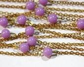 Vintage Lavender Purple Plastic Beaded Chain Japan chn065