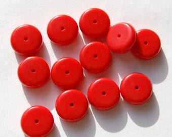 Vintage Chunky Red Lucite Beads bds089B