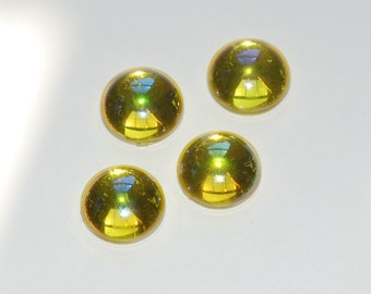 West Germany Vintage AB Jonquil Domed Cabochons 13mm (4) cab396C