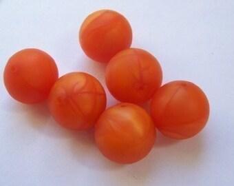 Vintage Deep Orange Lucite Beads bds239