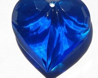 Sapphire Blue Faceted Heart Pendant pnd070