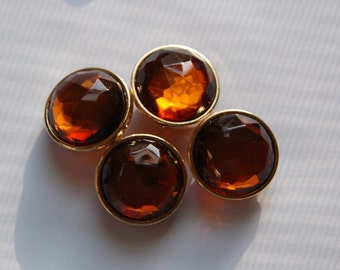 Topaz Round Faceted Lucite Channel Set Beads 20mm Japan  bds995A