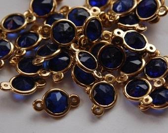 Vintage German Plastic Sapphire Blue Connector Beads bds957E