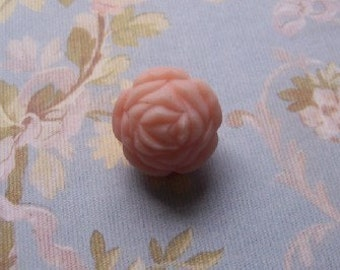 Vintage Angelskin Soft Pink Rose Rosebud Beads 25mm bds101C