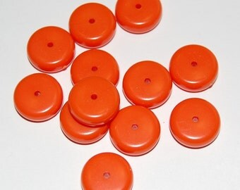 Vintage Chunky Orange Lucite Beads bds089A