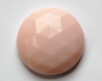 Vintage Light Pink Faceted Glass Cabochon 27mm cab140