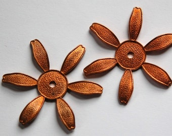 Daisy Flower Stamping Setting Copper Coated mtl252A