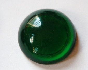 Vintage Translucent Emerald Green Acrylic Cabochons 30mm cab790C